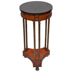 Early C19th french burr elm gueridon/stand
