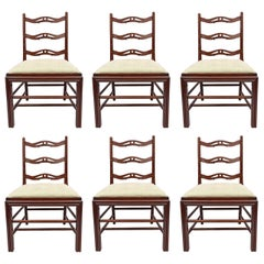 Set of Six George III Mahogany Dining Chairs by Gillows