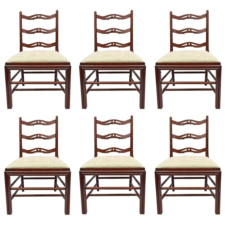Set of Six George III Mahogany Dining Chairs by Gillows For Sale