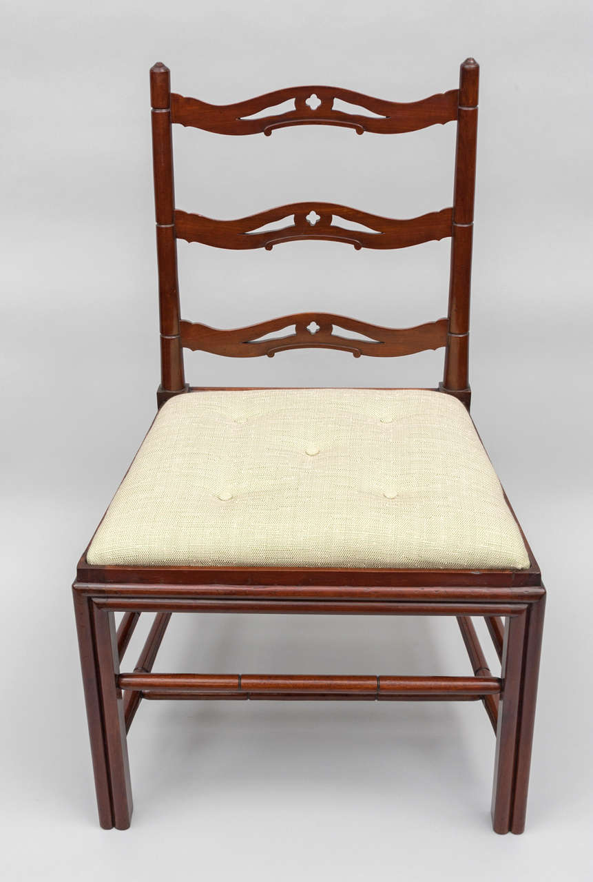 British Set of Six George III Mahogany Dining Chairs by Gillows For Sale
