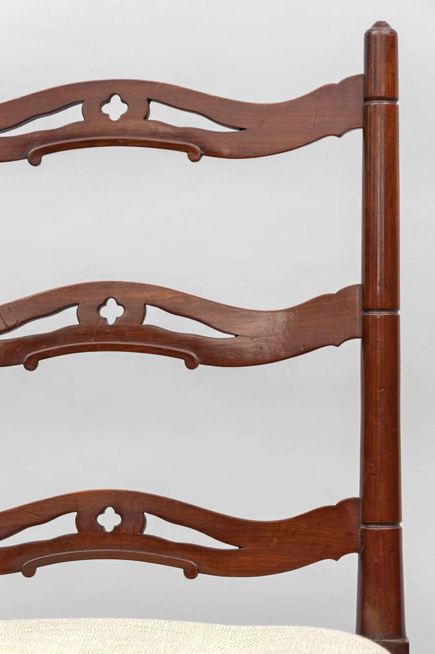 Late 18th Century Set of Six George III Mahogany Dining Chairs by Gillows For Sale