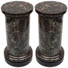 Early ca. 19th Pair of Scagliola Pedestal Columns