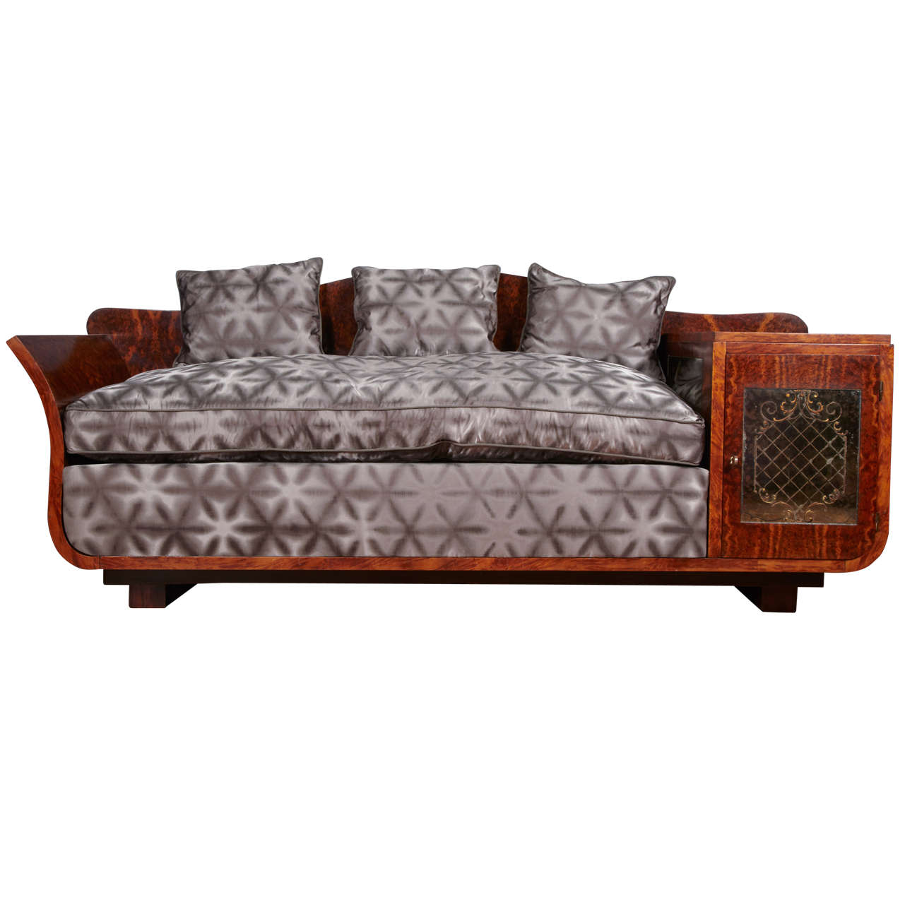 extraordinary art deco sofa at 1stdibs. Black Bedroom Furniture Sets. Home Design Ideas