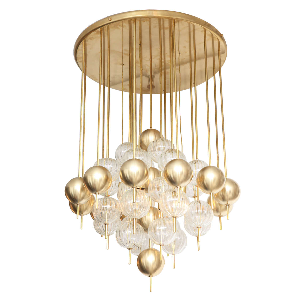 Magnificent italian chandelier with pendants at 1stdibs - Italian pendant lights ...