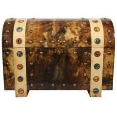 Awesome Goatskin Trunk by Aldo Tura
