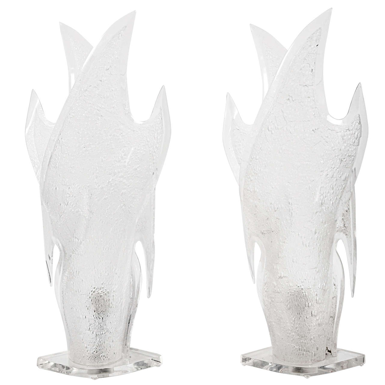 Awesome Pair Of Lucite Lamps For Sale At 1stdibs