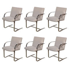 Delicious Set of Six Brno Chairs