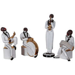 Art Deco Porcelain Jazz Orchestra by Robj