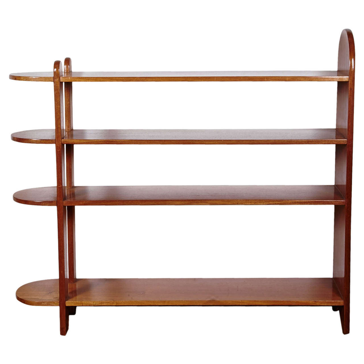 Art Deco Mahogany Shelf or Bookcase by Eugène Printz, 1932 For Sale