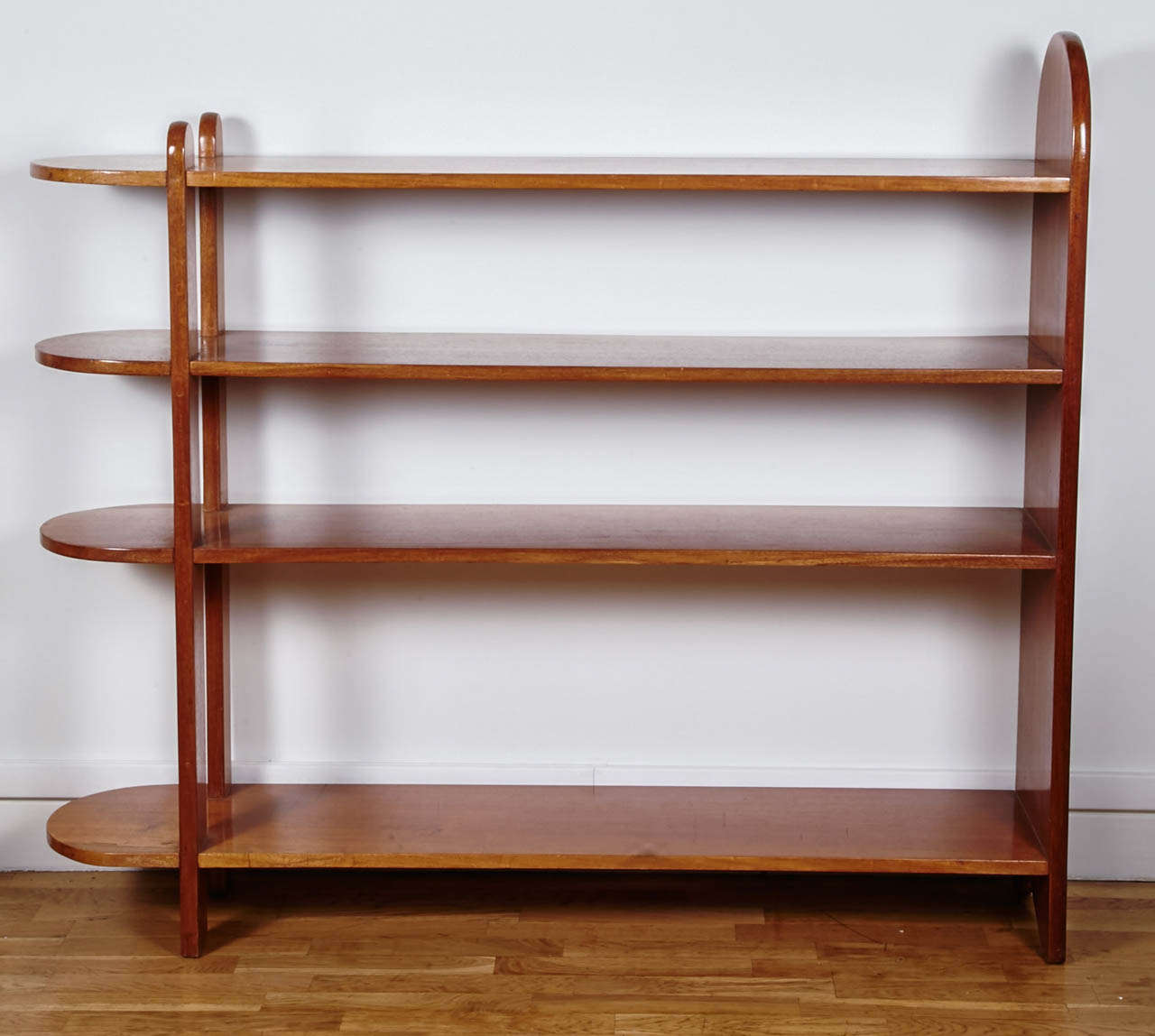 French Art Deco Mahogany Shelf or Bookcase by Eugène Printz, 1932 For Sale