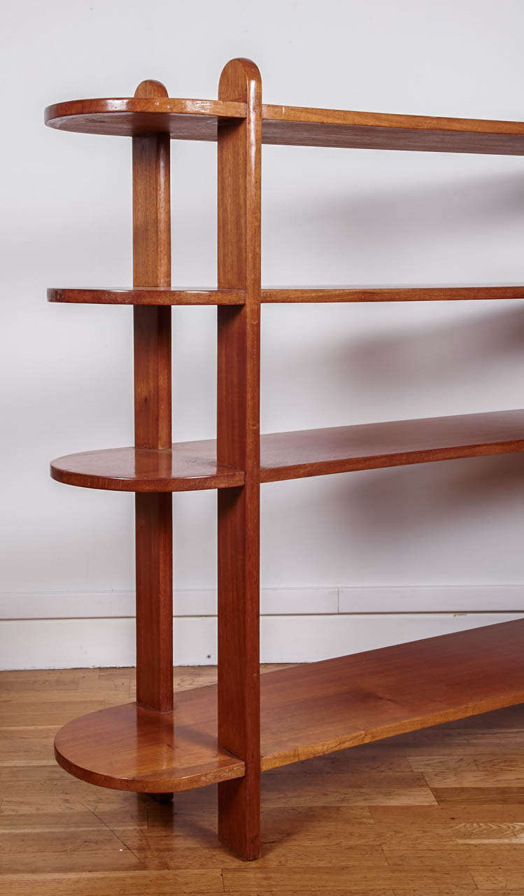 Art Deco Mahogany Shelf or Bookcase by Eugène Printz, 1932 In Good Condition For Sale In Paris, FR