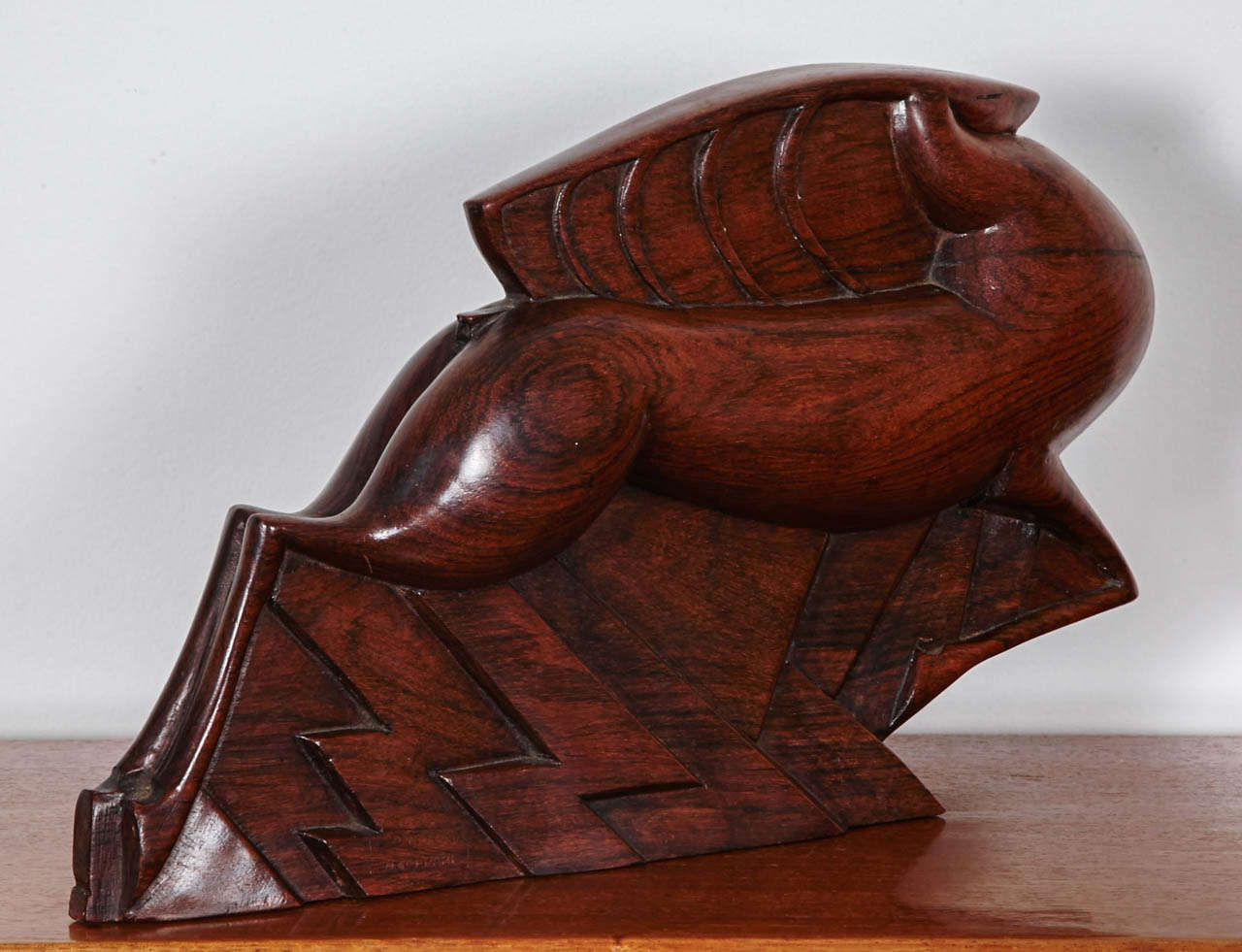 'Gazelle' Rosewood Art Deco Sculpture by Jacques Adnet, 1926 For Sale 1