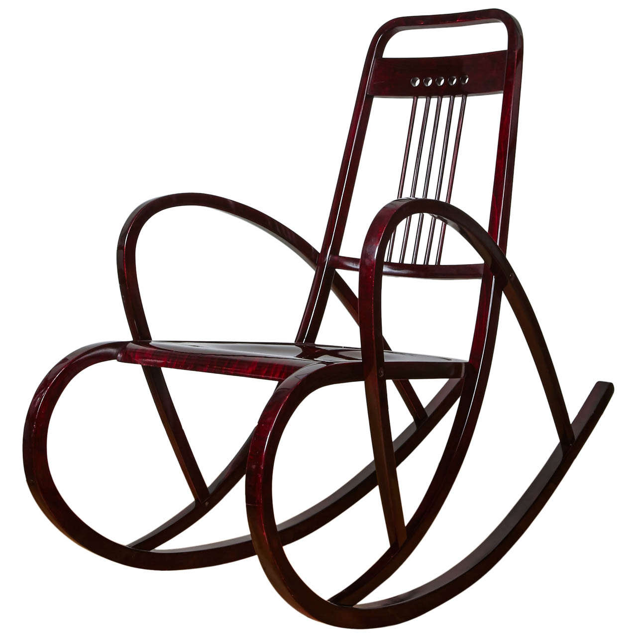 Charming Viennese Secession Rocking Chair By Thonet, Circa 1911 1
