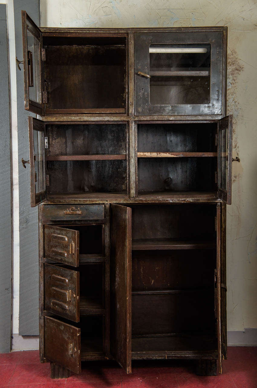 industrial metal cabinet vintage industrial metal storage cabinet at 1stdibs 17835