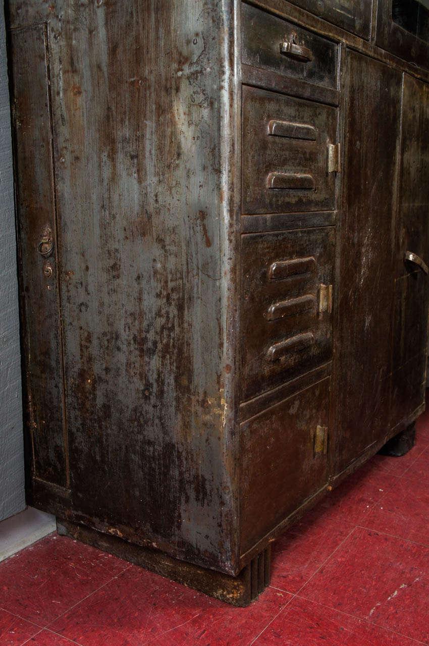 Vintage Industrial Metal Storage Cabinet At 1stdibs