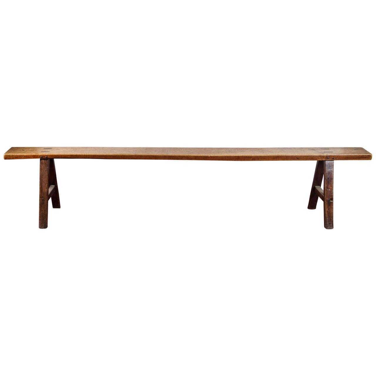 French Fruitwood Bench At 1stdibs