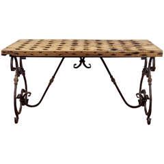 Antique Riddling Rack Wine Tasting Table