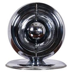 Globe Chromed Metal Table Lamp