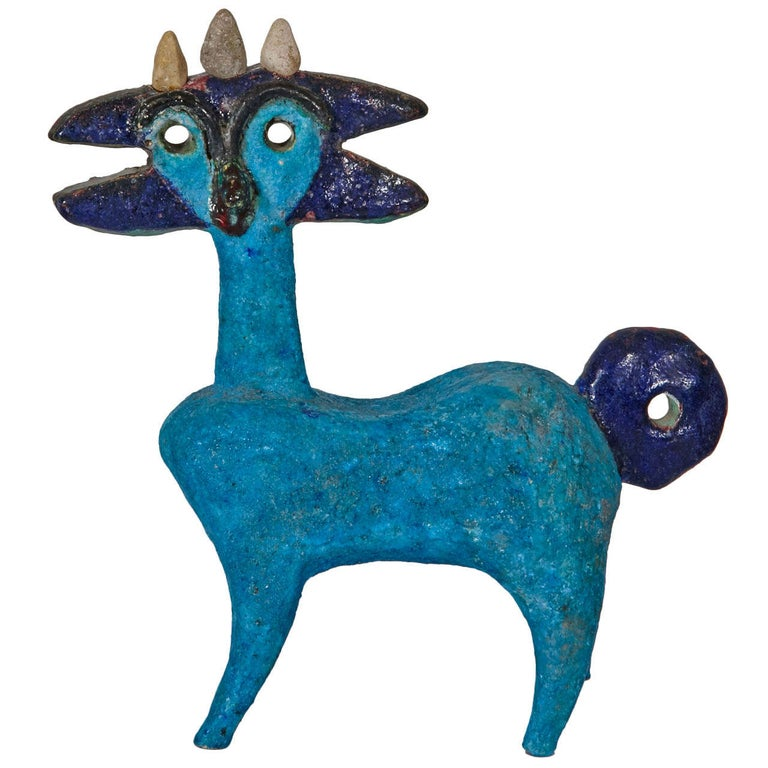 Earthenware Idol by Guidette Carbonell, circa 1960-1965 For Sale