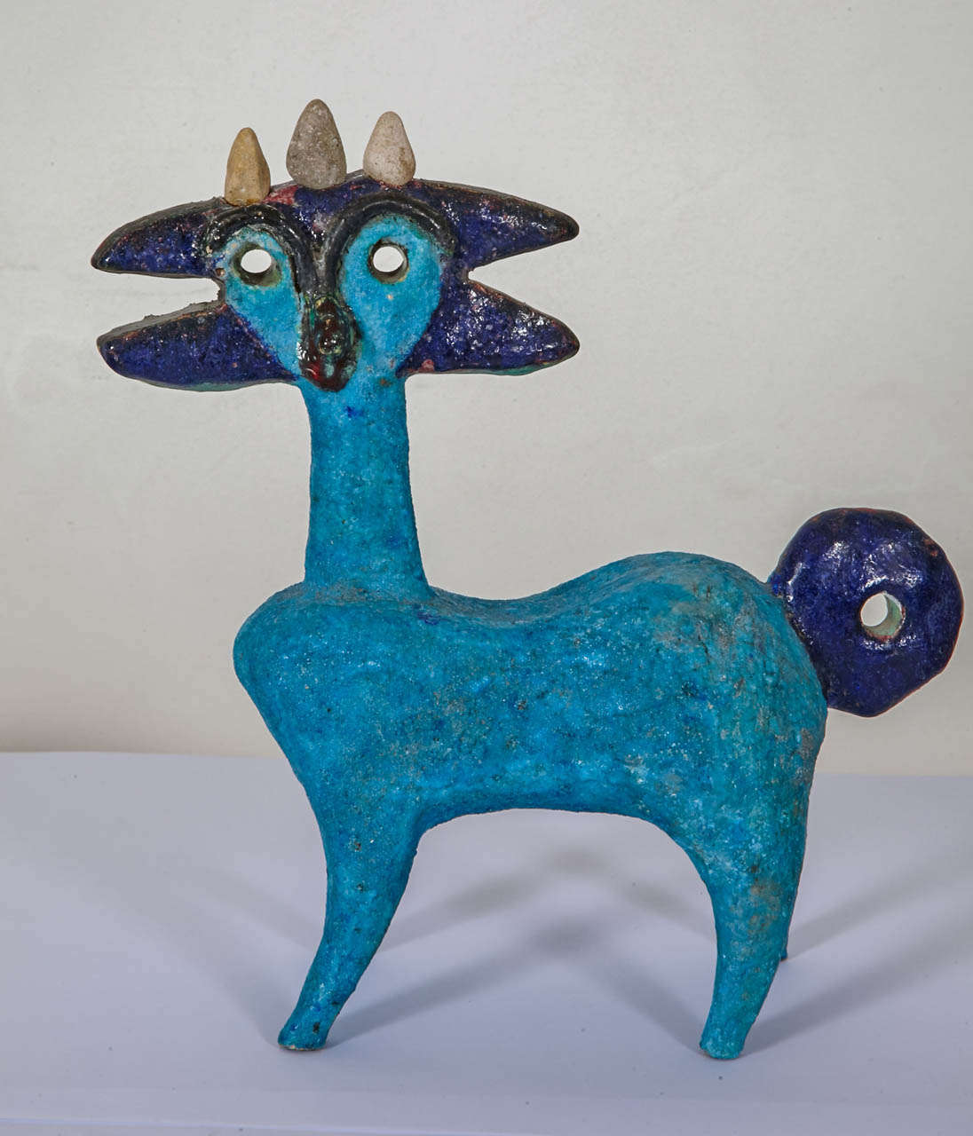 French Earthenware Idol by Guidette Carbonell, circa 1960-1965 For Sale