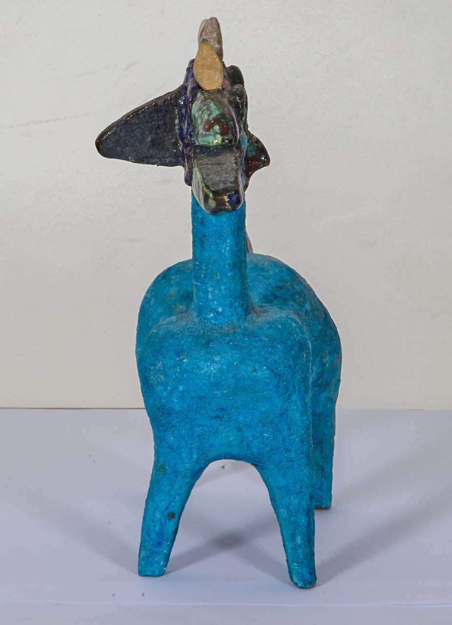 Earthenware Idol by Guidette Carbonell, circa 1960-1965 In Good Condition For Sale In Paris, FR