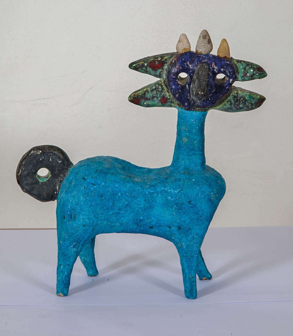 Earthenware Idol by Guidette Carbonell, circa 1960-1965 For Sale 1