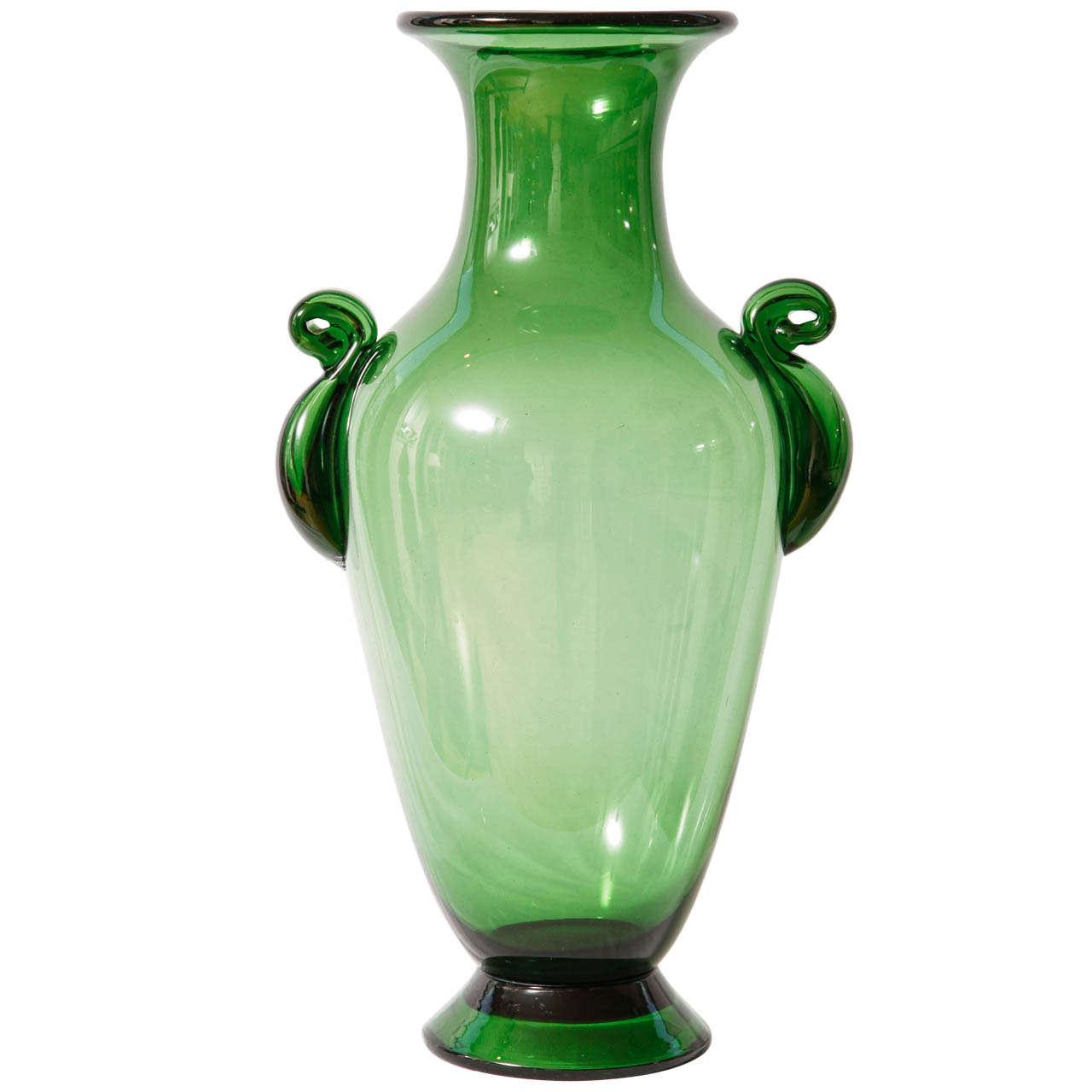 empoli art deco vase at 1stdibs. Black Bedroom Furniture Sets. Home Design Ideas