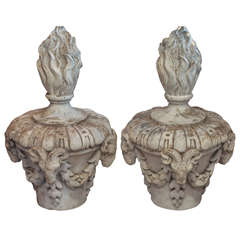 Pair of 19th Century French Terra Cotta Finials