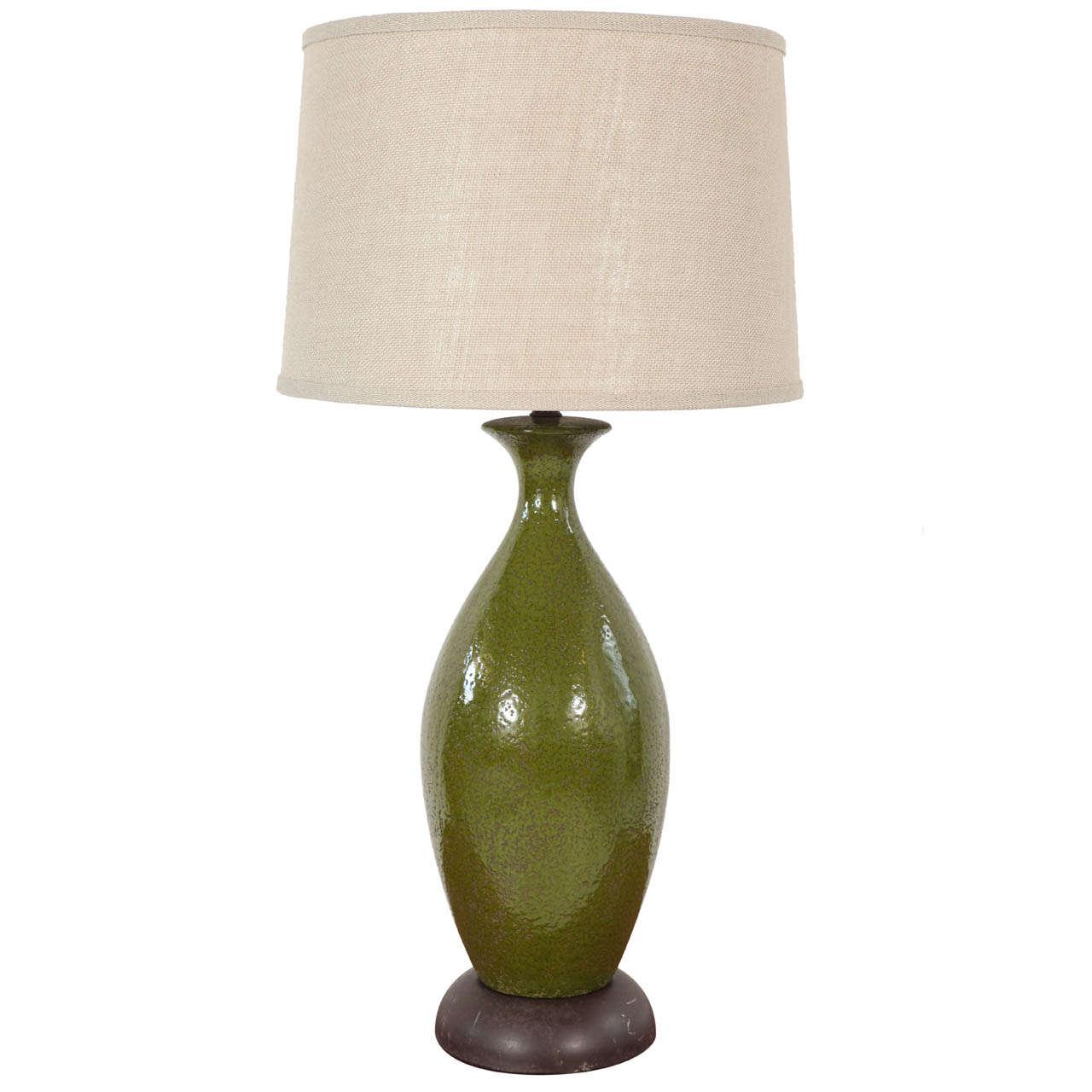 Green Ceramic Urn Table Lamp At 1stdibs