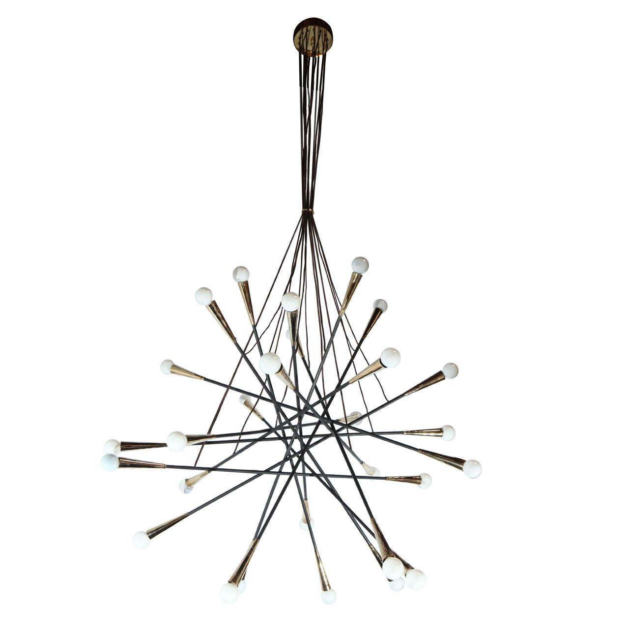 Grand sputnik chandelier for sale at 1stdibs for Sputnik chandelier