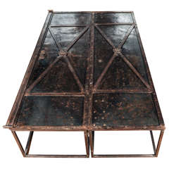 Pair of 18th Century Iron Doors Converted into a Coffee Table