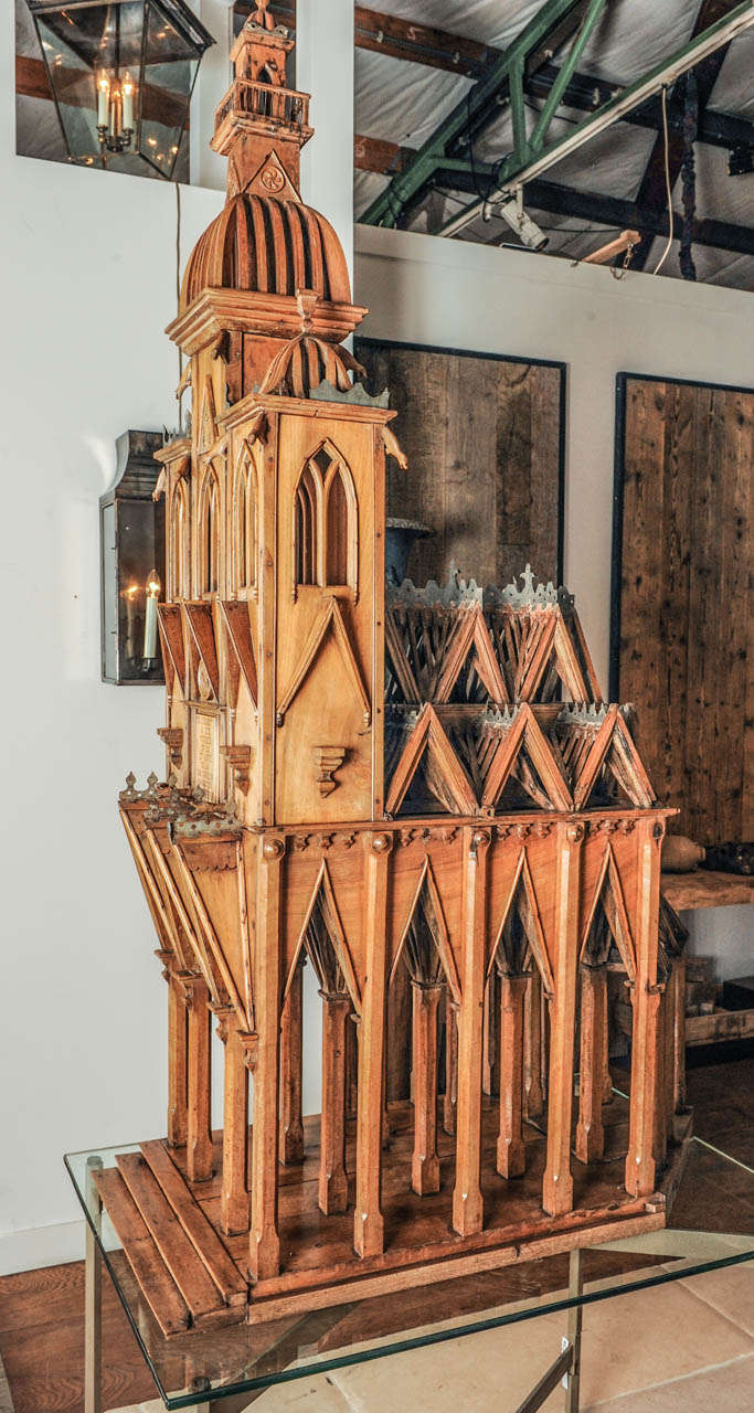 A large architectural model of a cathedral at 1stdibs for Architecture models for sale