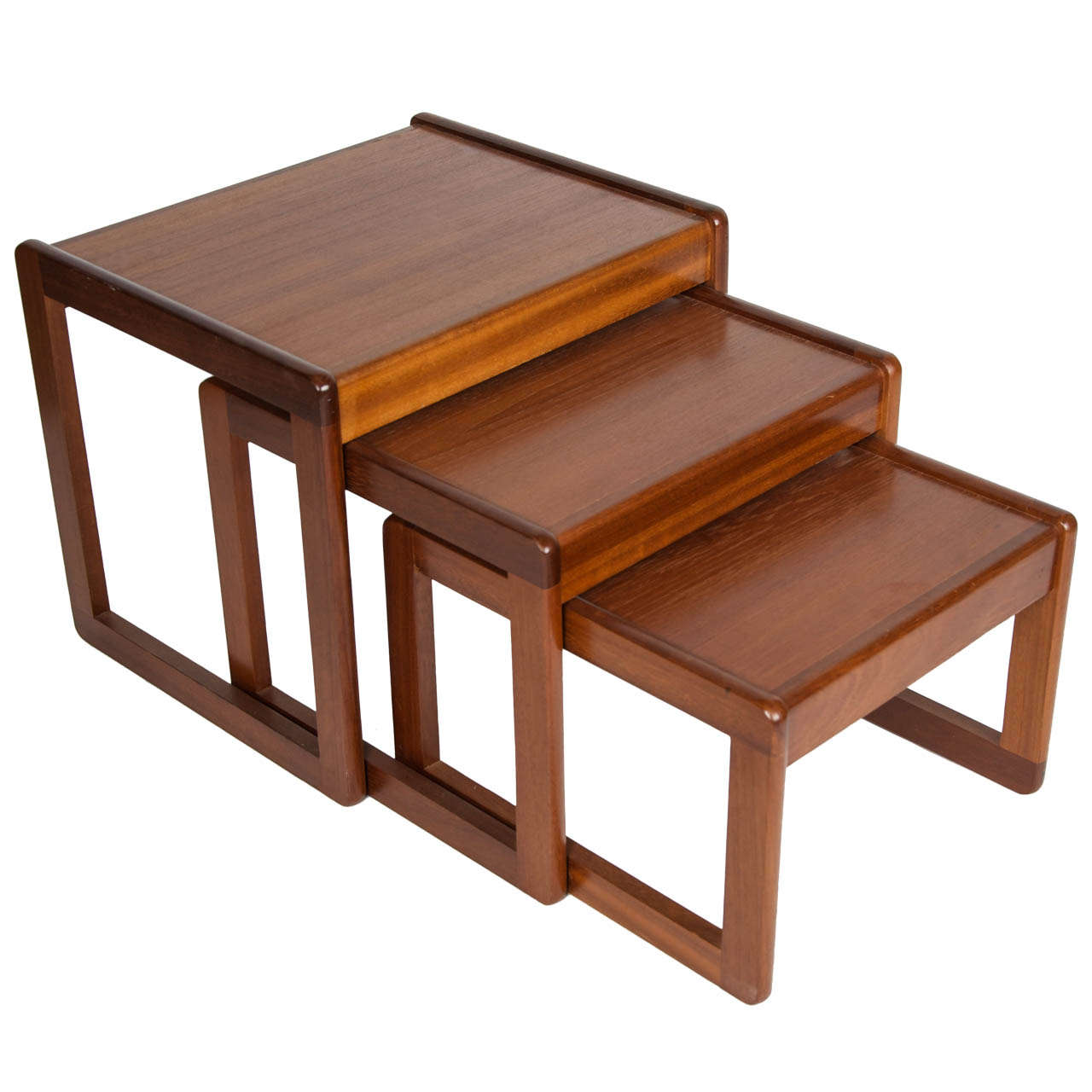 Teak Nesting Tables ~ A nest of three teak tables at stdibs