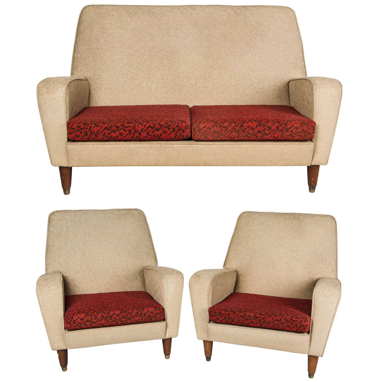 1960 39 s three piece suite at 1stdibs for Furniture 3 piece suites