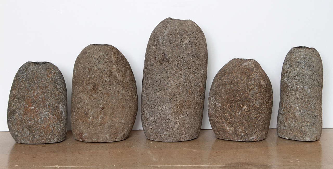Collection Of River Rock Candle Holders At 1stdibs