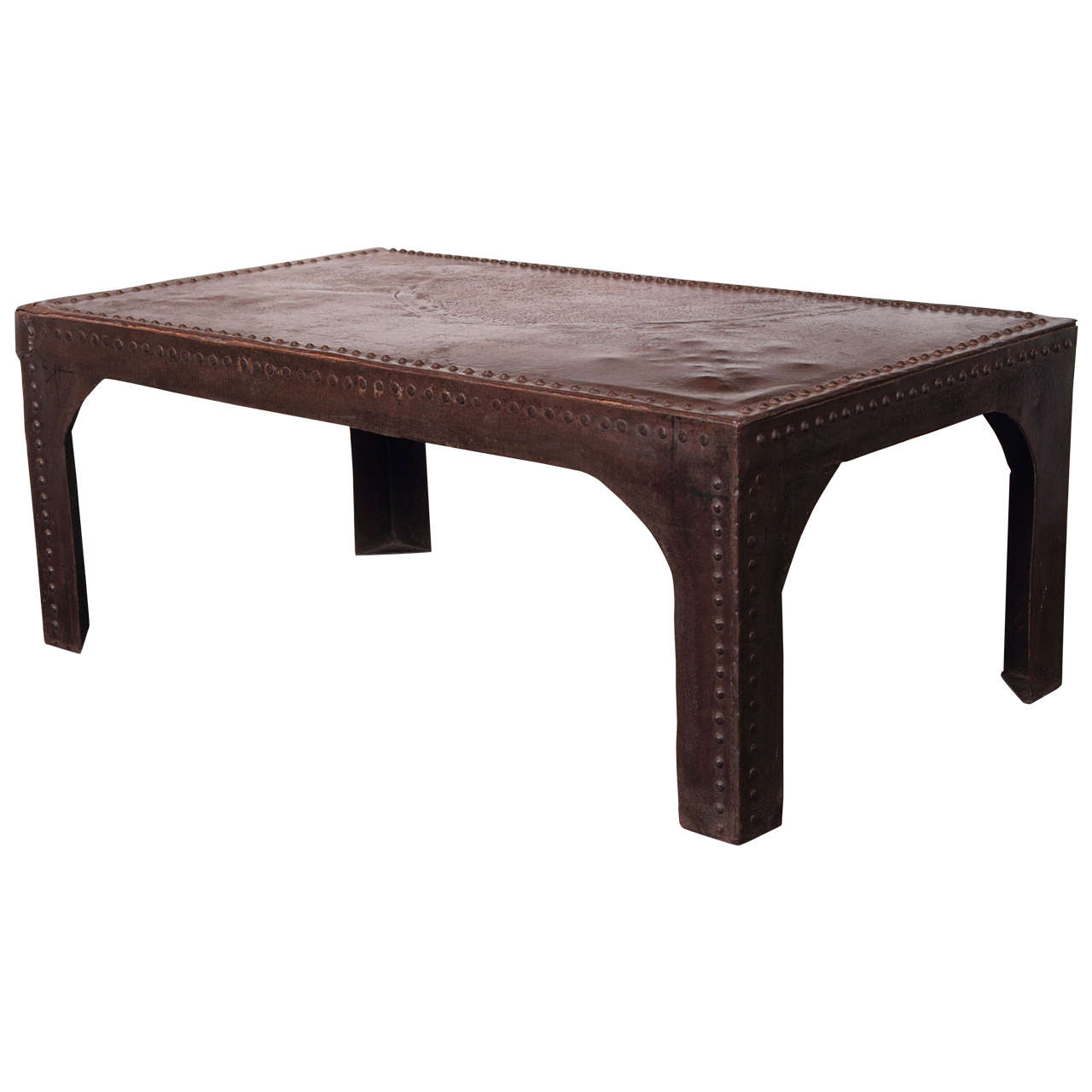 Industrial Styled Rivet Motif Coffee Table At 1stdibs