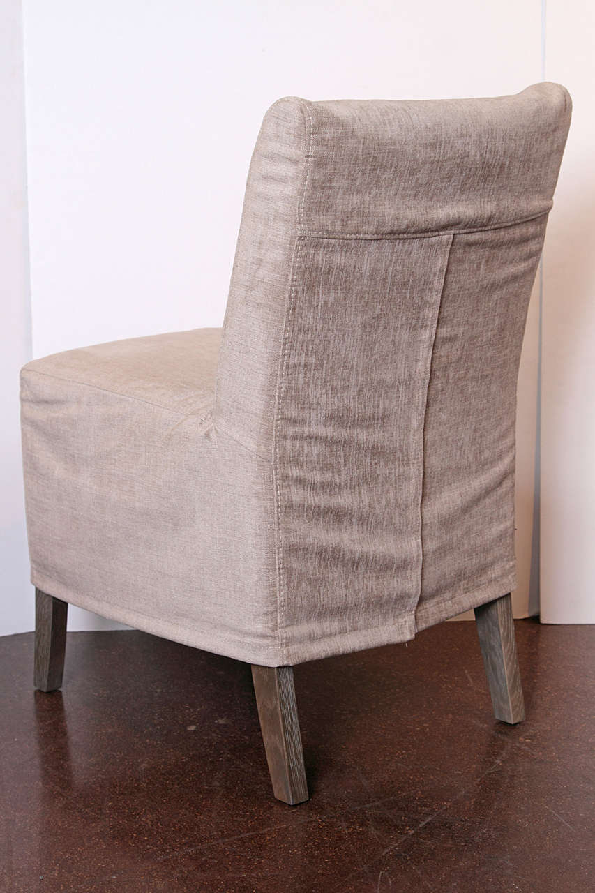 Slip covered casual dining chairs at 1stdibs for Informal dining chairs