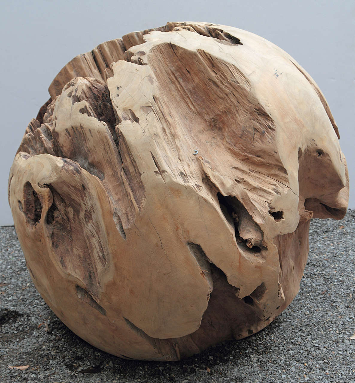 Large Teak Balls For Home Decor Or Garden Accessories At 1stdibs