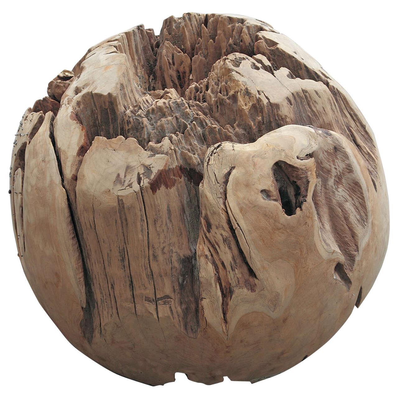 Large teak balls for home decor or garden accessories for for Garden accessories sale
