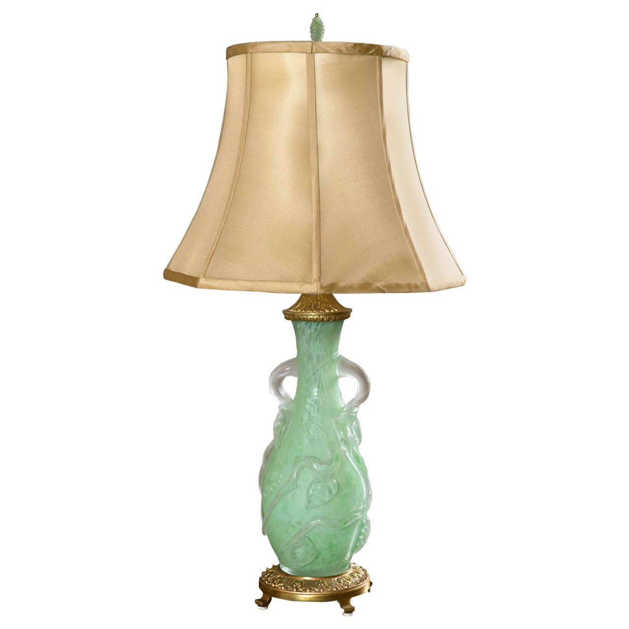 Steuben Vase, Turned Lamp