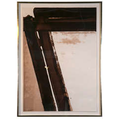 """Composition in Brown,"" Serigraph by Pierre Soulages"
