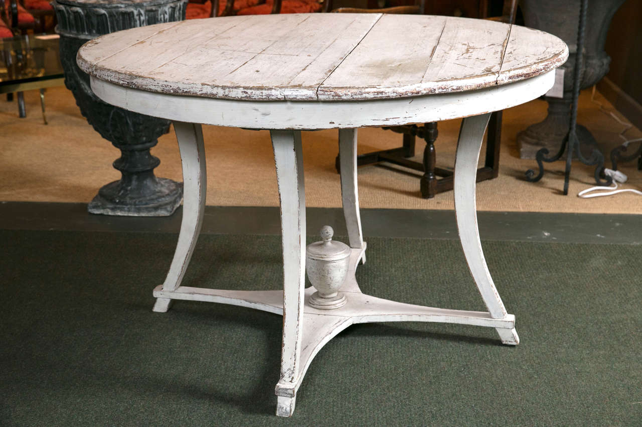 A late 18th or early 19th century Gustavian painted centre table.