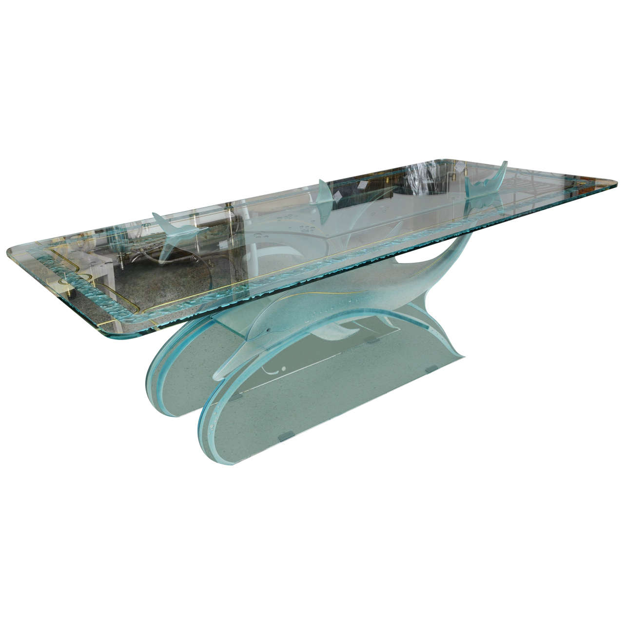 Dolphin Motif Glass DiningConferenceCenter Table at 1stdibs : X from 1stdibs.com size 1280 x 1280 jpeg 69kB