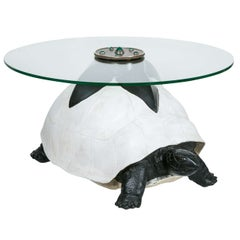 Tortoise Coffee Table with Glass Top, 1970-1980 by Anthony Redmile