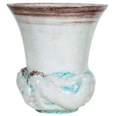 """Stoneware """"Twilight"""" Vase, 1930s by Edouard Cazaux"""
