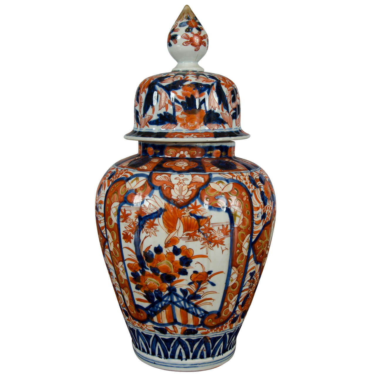 19th century lidded japanese imari jar with flame shaped finial 19th century lidded japanese imari jar with flame shaped finial for sale reviewsmspy
