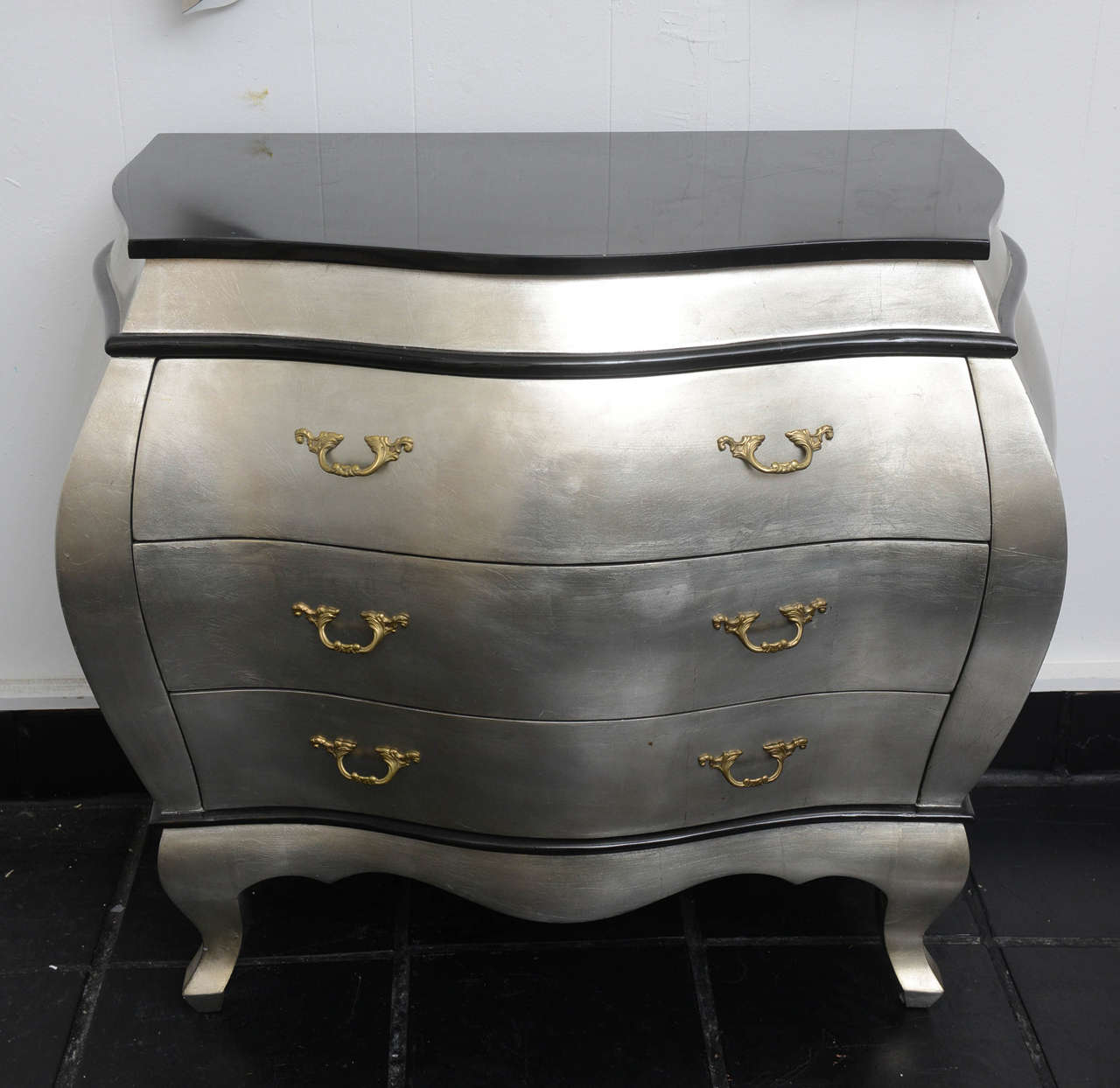 Silver leaf bombay chest at stdibs