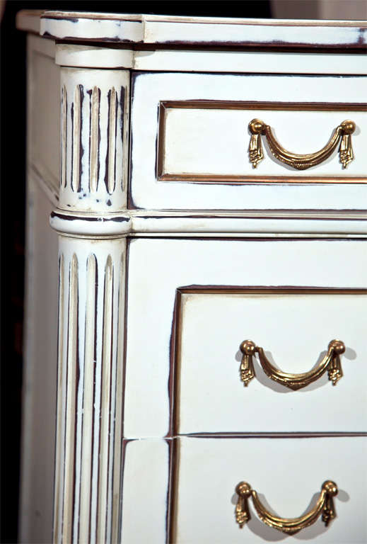Argentine Six-Drawer Hi Chest Louis XVI Style Maison Jansen Stamped For Sale