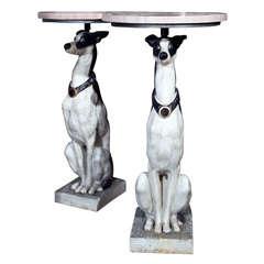 Pair of Greyhound Pedestals