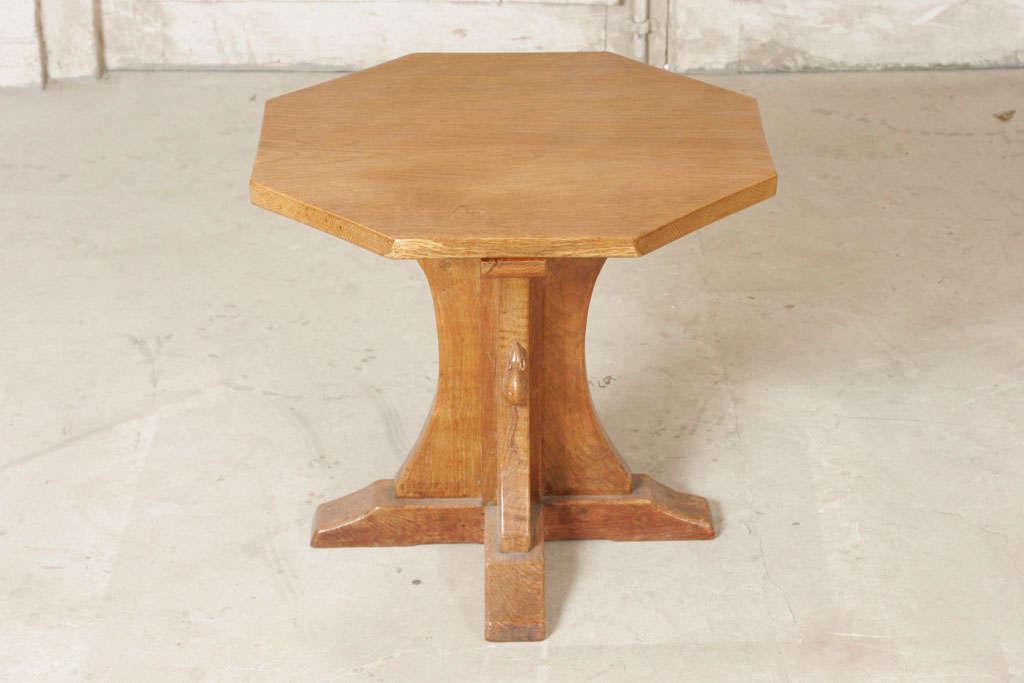"Robert ""Mouseman"" Thompson Oak octagonal side table"